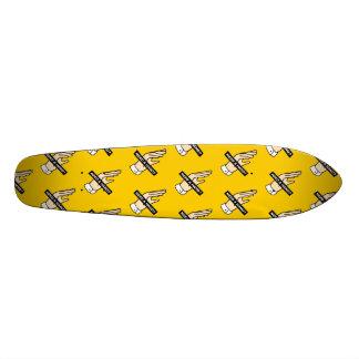 Shape De Skate 21,6cm PRECISE UMA MÃO? (Amarelo)
