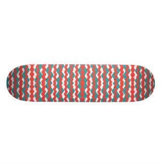 Shape De Skate 21,6cm Teste padrão de ondas geométrico
