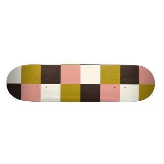 Shape De Skate 21,6cm Xadrez cor-de-rosa do marfim do chocolate do ouro