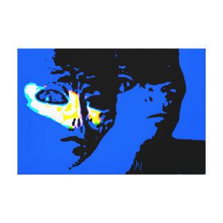 Shapeshifter estrangeiro da 13a dimensão impressão de canvas envolvida