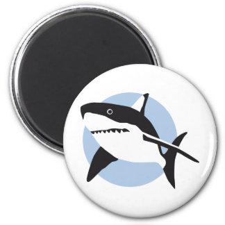 shark attack ímã redondo 5.08cm