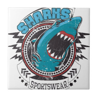 Shark Azulejo Quadrado Pequeno