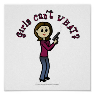 Sharpshooter fêmea claro poster