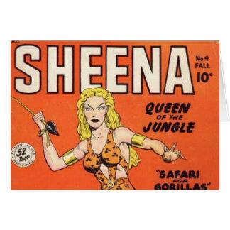 Sheena: Banda desenhada da mulher da selva Cartão