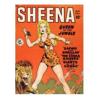 Sheena: Banda desenhada da mulher da selva Cartão Postal