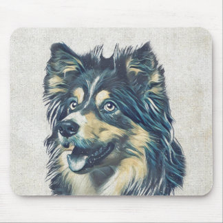 Sheepdog de Shetland que pinta Mousepad
