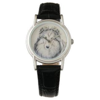Sheepdog de Shetland Relógio