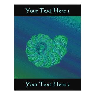 Shell azul, verde. Projeto da arte abstracta Flyer 21.59 X 27.94cm