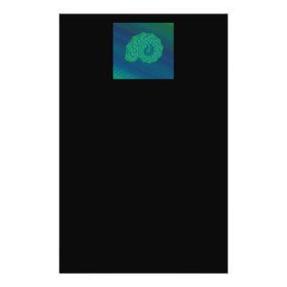 Shell azul verde Projeto da arte abstracta Panfletos Personalizados