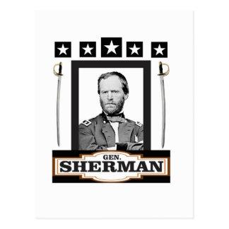 sherman stars espadas cartão postal