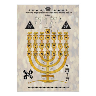 Shevitti com as letras hebréias pôster