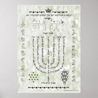 Shevitti com o poster do salmo 67, todos os pôster