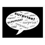 SHH! é um partido de surpresa! : bolha cómica do d Cartao Postal
