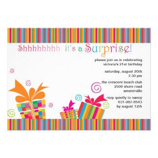 Shhh… convite de festas da surpresa
