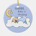 Shhh gancho de porta do sono do bebê ornamento
