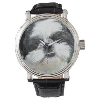 Shih preto e branco Tzu Relógio De Pulso