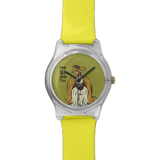 Shih Tzu - a mesa do cão Relógios De Pulso