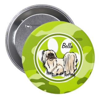 Shih Tzu camo verde-claro camuflagem Botons