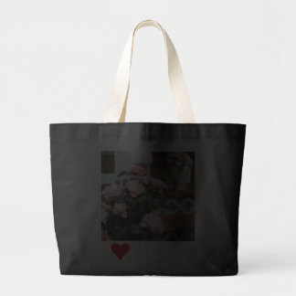 Shih Tzu com flores do primavera Bolsa