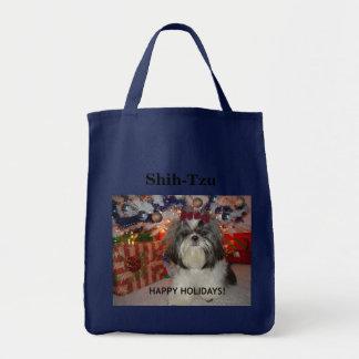 Shih-Tzu - o bolsa feliz do feriado