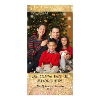 Shimmer da faísca da fotografia da família do cartão com foto
