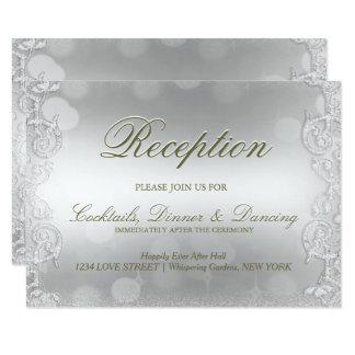 Shimmer de prata do cartão   da recepção