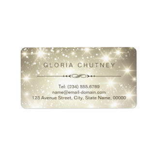 Shimmer elegante e elegante que Sparkling Etiqueta De Endereço