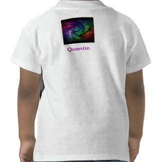 Shirt Quentin nome abstracto individualmente Camisetas