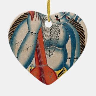 Shiva intoxicado que guardara o cordeiro ornamento de cerâmica