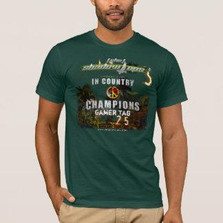 SHO customizável na camisa do campeonato do país