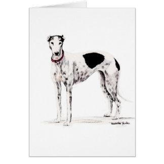 Shobe o cartão de nota da arte do cão do galgo