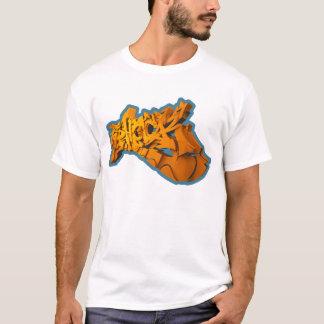 SHOCKEAS 3D (3D-Graffiti em alpargata) Camiseta
