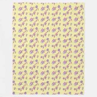 Shooting Stars e cobertura amarela do velo dos Cobertor De Lã