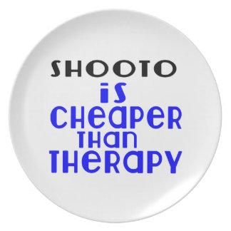 Shooto é mais barato do que a terapia prato de festa