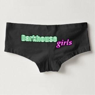 Shorts do menino das meninas de Darkhouse Cueca Feminina