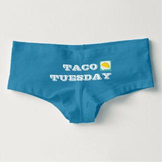 Shorts do menino de terça-feira do Taco Cueca Feminina