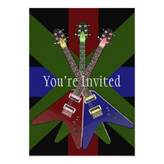 Shredder da guitarra do vôo V Convite 12.7 X 17.78cm