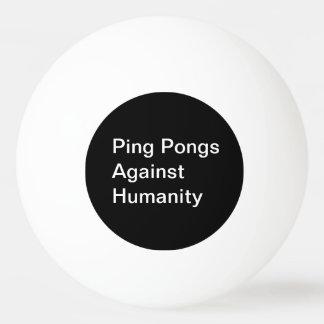 Sibilo Pongs contra a bola da humanidade