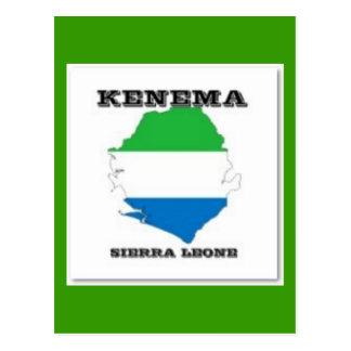Sierra Leone, cartão do mapa (Kenema)