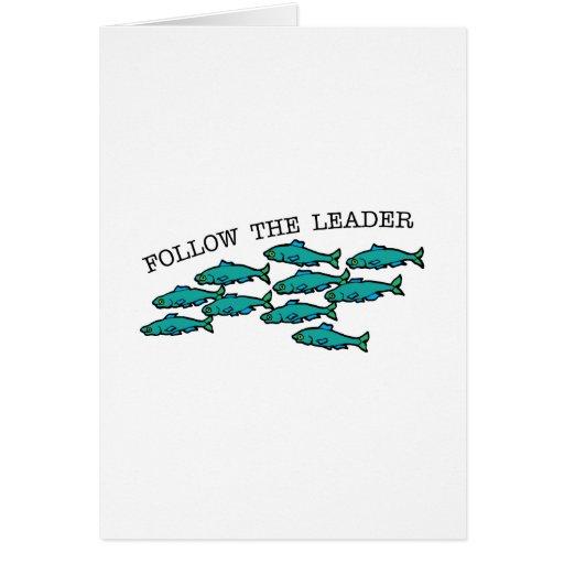 Siga o líder cartão