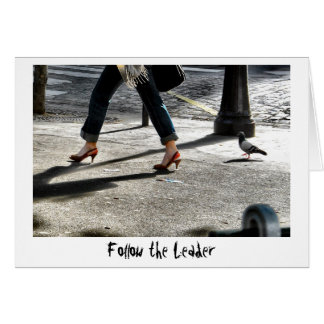 Siga o líder cartão comemorativo