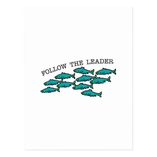 Siga o líder cartao postal