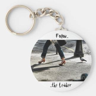 Siga o líder chaveiro