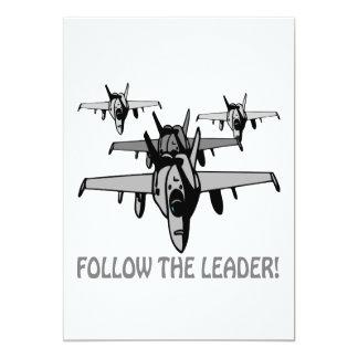 Siga o líder convite 12.7 x 17.78cm