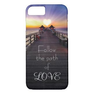 Siga o trajeto de capas de telefone do amor