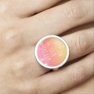 Siga seu anel inspirado das citações do por do sol