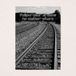 Siga seu cartão inspirador dos sonhos