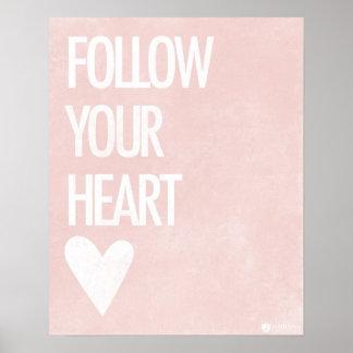Siga seu coração poster
