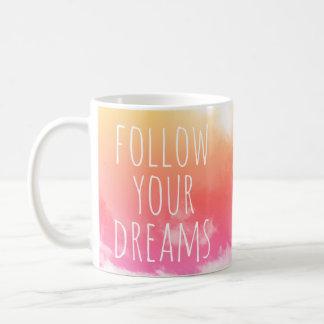 Siga sua caneca inspirada das citações dos sonhos