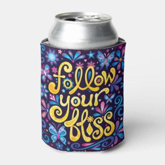 Siga sua felicidade pode refrigerador - arte porta-lata